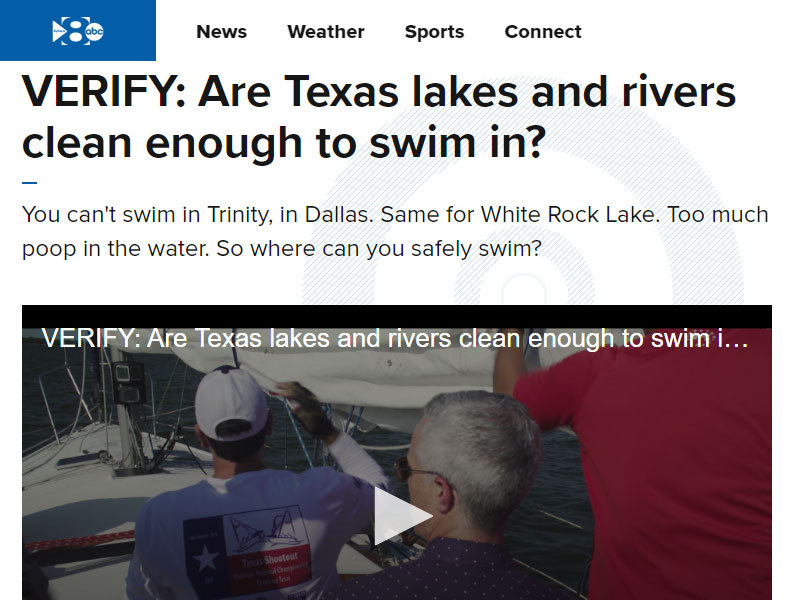 WFAA VERIFY: Are Texas lakes and rivers clean enough to swim in?