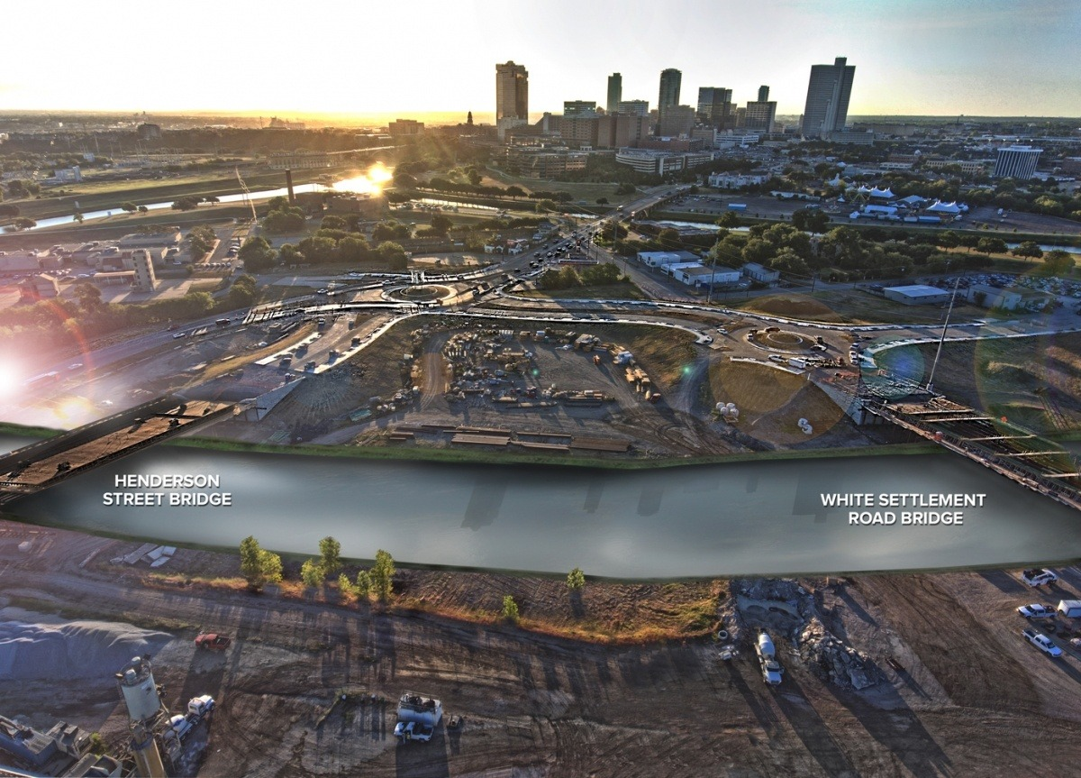 Future bypass channel between the Panther Island bridges on Henderson St. and White Settlement
