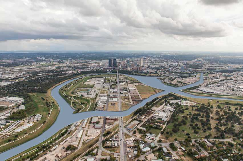 Trinity River Vision Authority's Panther Island Project expects to add 12 miles of waterfront to the central business district in Fort Worth, Texas.