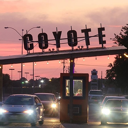 Enjoy a movie outdoors at Coyote Drive-In