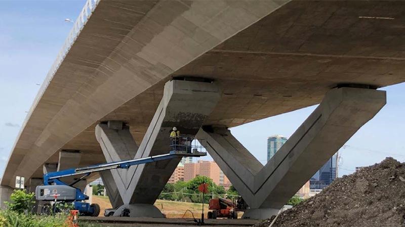 Underside of the White Settlement Bridge in Fort Worth