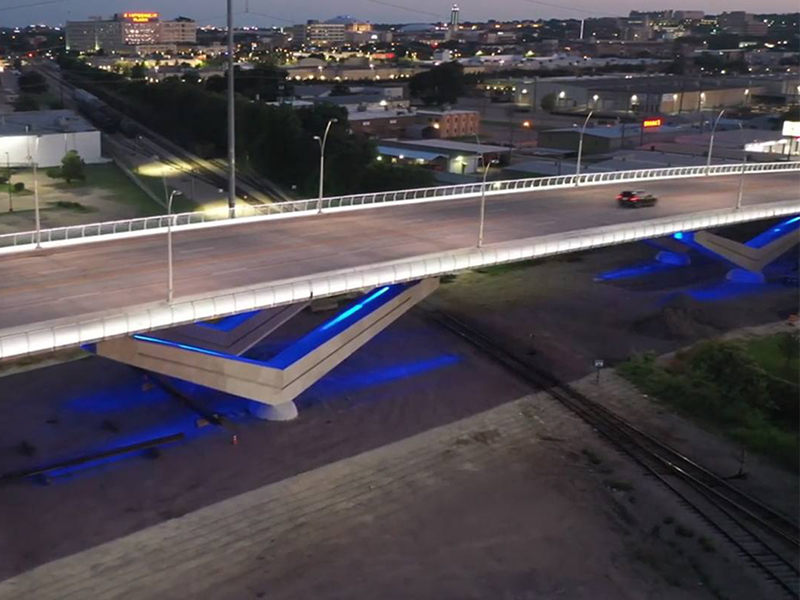 What's left on the three Signature V-Pier Panther Island Bridges?
