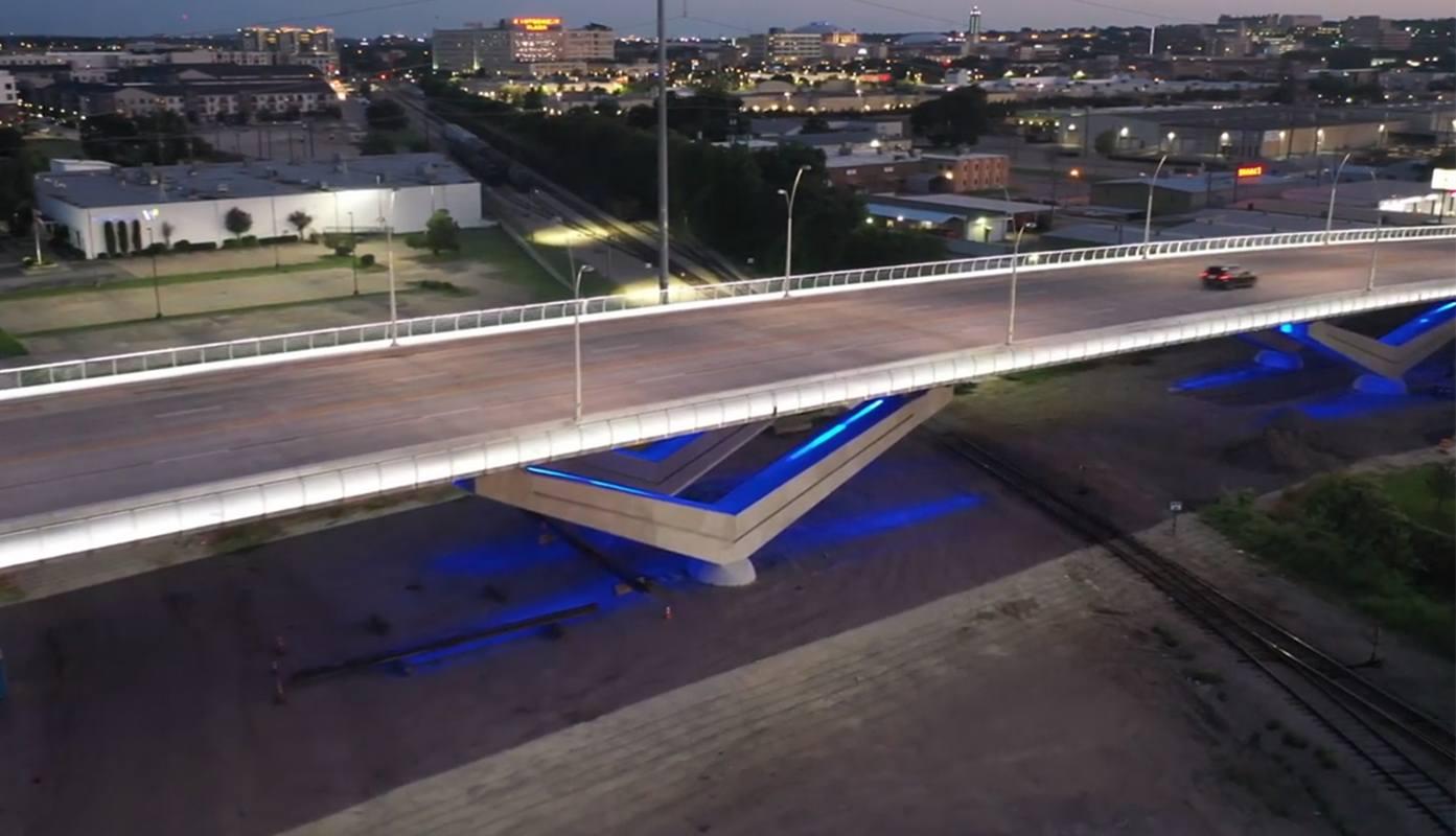 White Settlement Bridge Lights, Fort Worth, TX