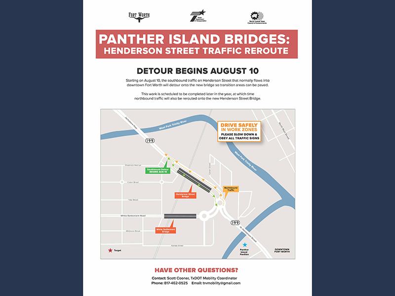 Henderson S. Bridge Detour Starting Aug 10