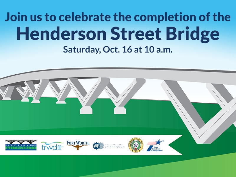 Panther Island Signature Henderson St. Bridge Ribbon Cutting – SAVE THE DATE