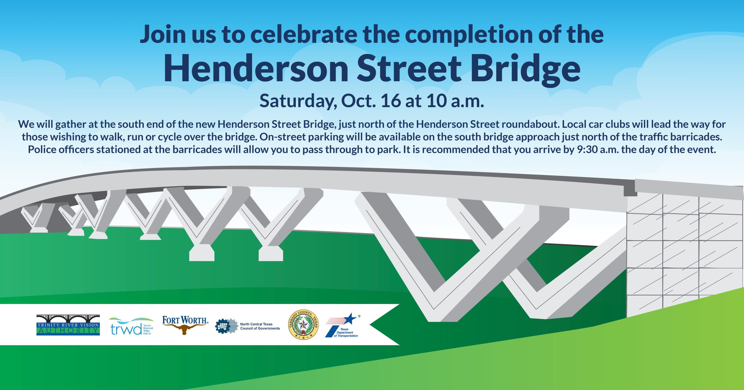 Panther Island Signature Henderson St. Bridge Ribbon Cutting - SAVE THE DATE